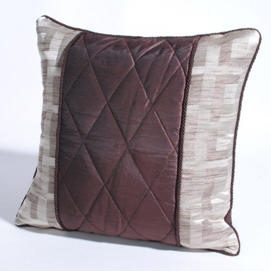 "Cushion Cover Quilt 16"" X 16"" Chocolate"