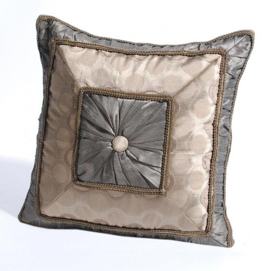 "Cushion Cover Gatherline 16"" X 16"" Grey"