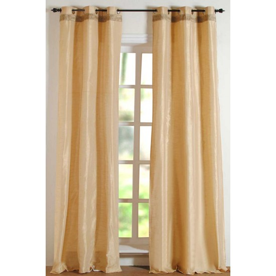 Hungama With Gimp Curtain Light  Beige 108""