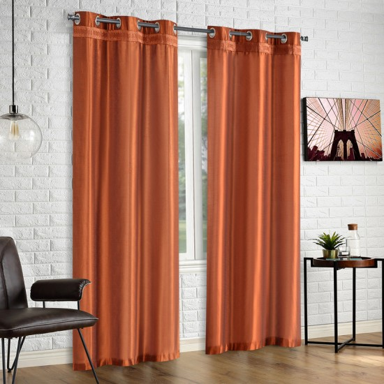 Hungama Gimp Curtain French Haze 108""