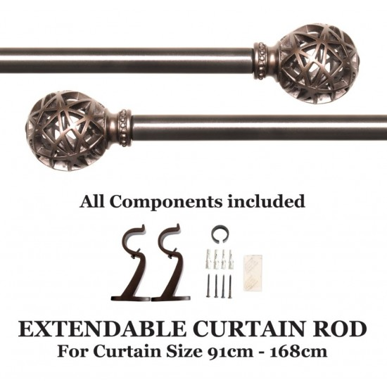 "Globe Knotch Curtain Rod 36""-66"" (Curtain Rod)"