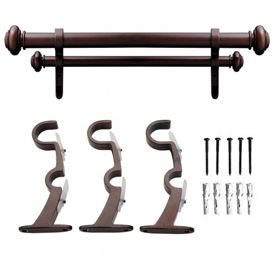 Endcap Disc 25mm Double Curtain Rod Brown Oil Rubbed (Curtain Rod)