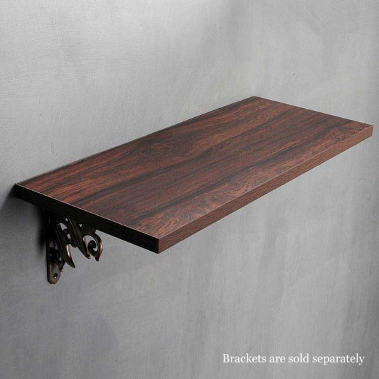 Wall Shelf 18mm Mahogany Shiny 24""