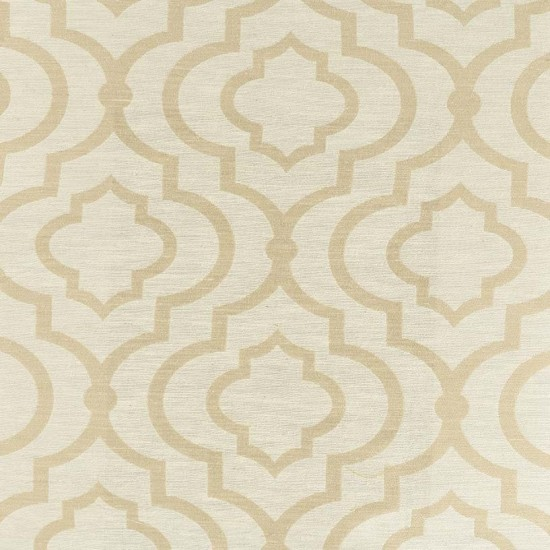 "Fabric Ikat Quatrefoil 56""Beige"