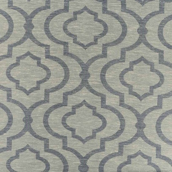 "Fabric Ikat Quatrfoil 56""Greyblue"