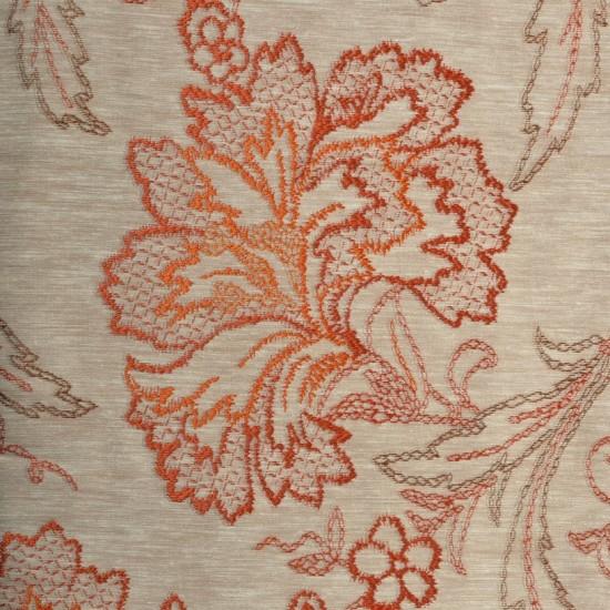 "Fabric Big Flower 54"" Dark teracota"