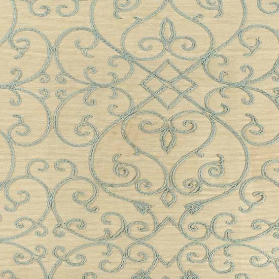 """Fabric Swirl Emb 54"""" Teal"""