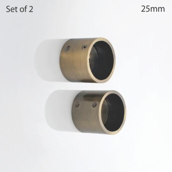 Wall Bracket Iron 25 mm Ø Antique Brass