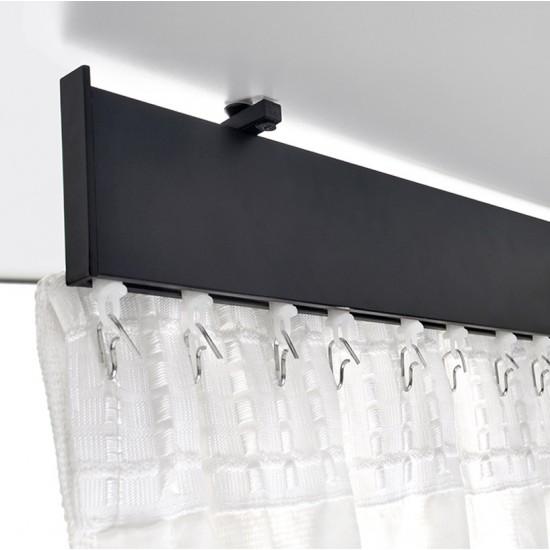 Ceiling Bracket (S/3) for Flat Track (S/3) Black Matt