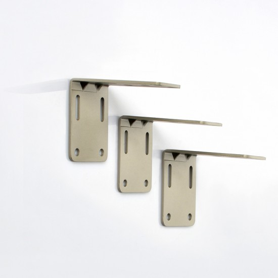Single Bracket (S/3) for Flat Track Champagne