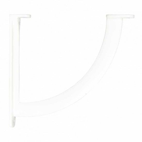 Deco Home Shelf Bracket Giaro 19cm X17.5cm White Glossy