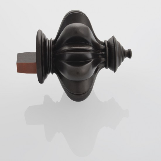 Finial Temple for 50mm Track (Set of 2) Brown oil rubbed (Accessories)