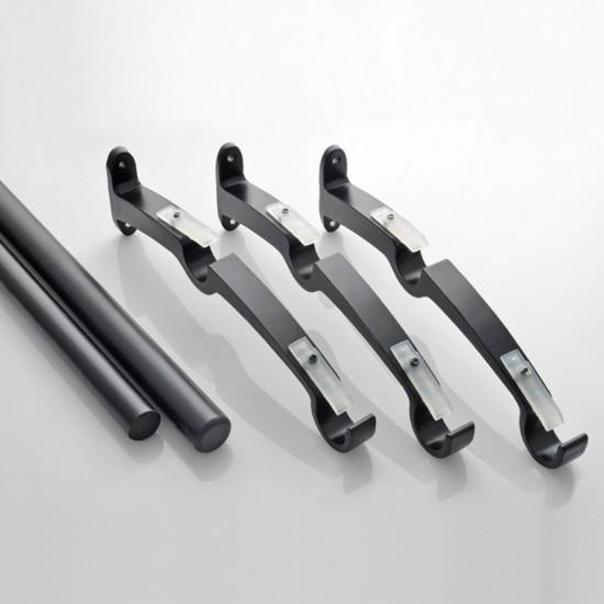 "36"" - 66"" Double Rod Kit 19 mm Black Matt"