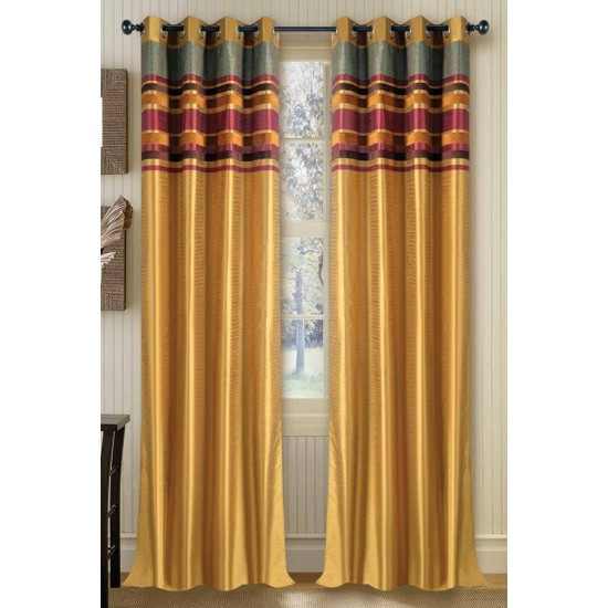Curtain Meghna Luxury Gold Mix 90""