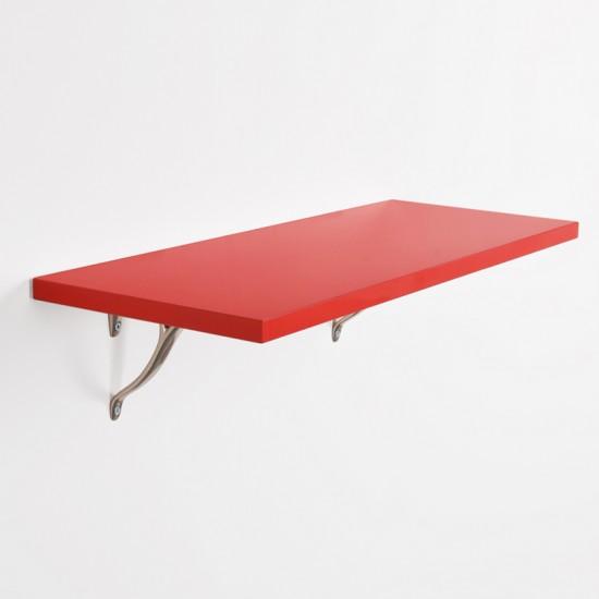 "Deco Home Glossy Shelf 48""X9""X18mm Red Laminate"