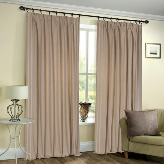 Curtain Shikha Pleated Dark Beige 90""