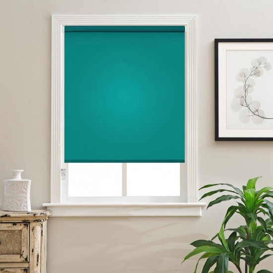 "Polyester Blend Non-Blackout Roller Blinds for Windows (48"" Wide X 84"" Long, Meadowbrook)"