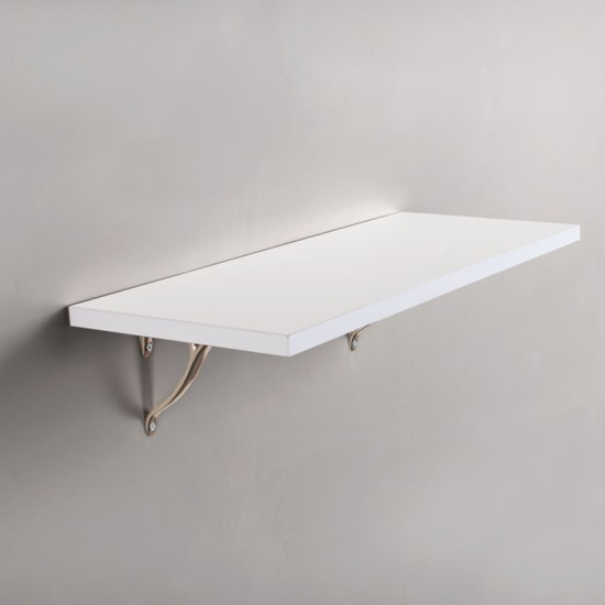 "Deco Home Glossy Shelf 24""X9""X18mm White Laminate"