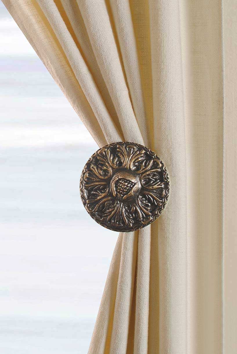 Curtain Holdback Clips Decorative Holdbacks Decowindow In