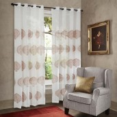 Curtain Sheer Yamuna 52*108 Ivory Set of 2