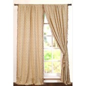 "Curtain Priya 96"" New Beige/Black Mix"