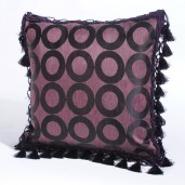 "Deco Home Cushion Cover Pariniti 16"" X 16 "" Burn Rose"
