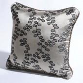 "Cushion Cover Jacquard Leaves Dark Beige/Black Mix-16"" X 16"""