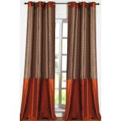 "Stripe Band Curtain Haze 60"" ( set of 2)"