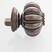 Finial Lotus for 50mm Track (Set of 2) Brown oil rubbed