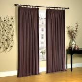 "Pleated Curtain Gaurika Chocolate 108"""