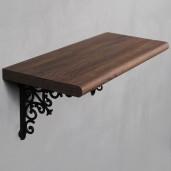 Sheesham Natural Wood Shelf with Opera Bracket Set