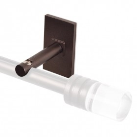 Wall Bracket for 19 mm Track (Set of 2) Brown Oil Rubbed