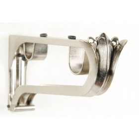 Classical Double Bracket 25mm/19mm Ø (Set of 3) Satin Silver