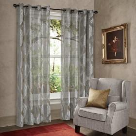 "Curtain Sheer Yojna 90"" Grey"