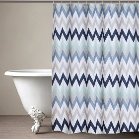 CURT GRM 71ZIGZAG NW TURQUISE (shower curtain)