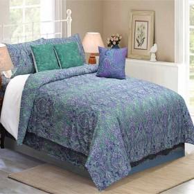 Bedding King Size 7 pc Set Czar Paisley Lavender
