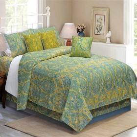 Bedding King Size 7 pc Set Czar Paisley Fern (Bedding)