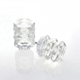 Multi Oval Lead Crystal Finial Set of 2