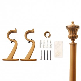 "Urn 32mm Curtain Rod 28""- 48"" Gold"