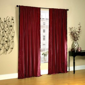 "Curtain Lurex Stripe 96"" Burgundy"