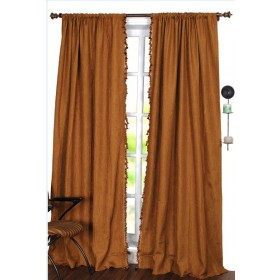 Curtain Embossed II Stripe Gold Beige