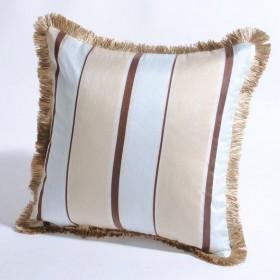 """Deco Home Cushion Cover Ankita 16"""" X 16"""" Dark Beige Blue Mix"""