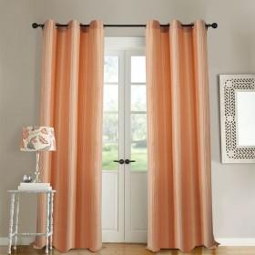 Curtain Multi Stripe Peach Bud 5 ft