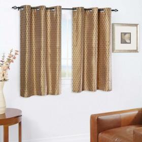Curtain Tonal Stripe New Brown 5 ft (Curtain)