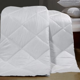 """Microfiber Comforter 91"""" x 101"""" Double Bed White (Bedding)Back  Reset  Delete  Duplicate  Save  Save and Continue Edit"""