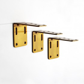Single Bracket (S/3) for Flat Track Soft Gold