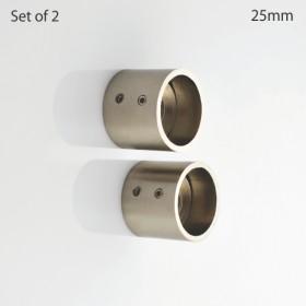 Wall Bracket Iron 25 mm Ø Satin Silver