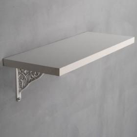 White Wood Shelf with Baroque White Bracket Set