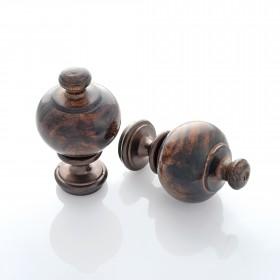 Wood Urn Finial Set of 2