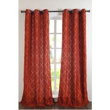 "Curtain Victoria Dark Terracotta 96"""